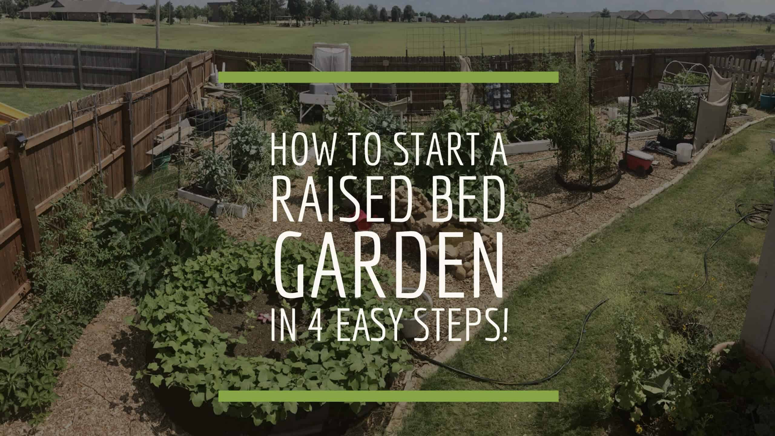 how to start a raised bed vegetable garden in 4 easy steps from seed to spoon. Black Bedroom Furniture Sets. Home Design Ideas