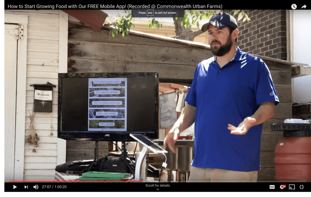 Commonwealth Urban Farms - How to Start Growing Food with ...