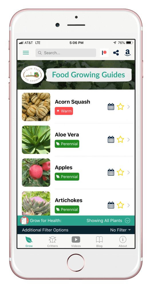 Growing Food Mobile App From Seed to Spoon iPhone Android iPad