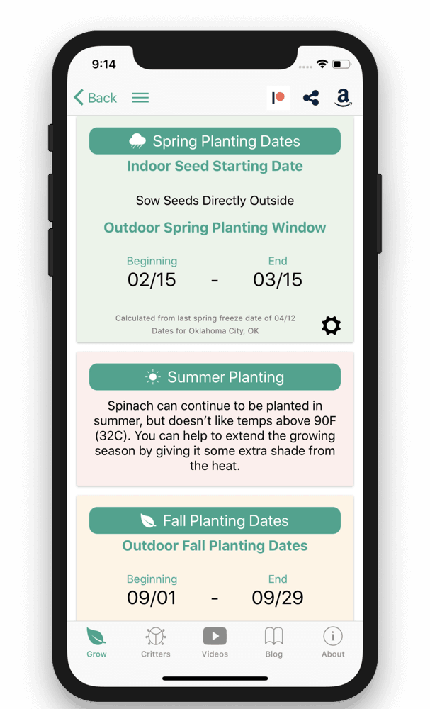 Seed to Spoon – Customized Planting Dates