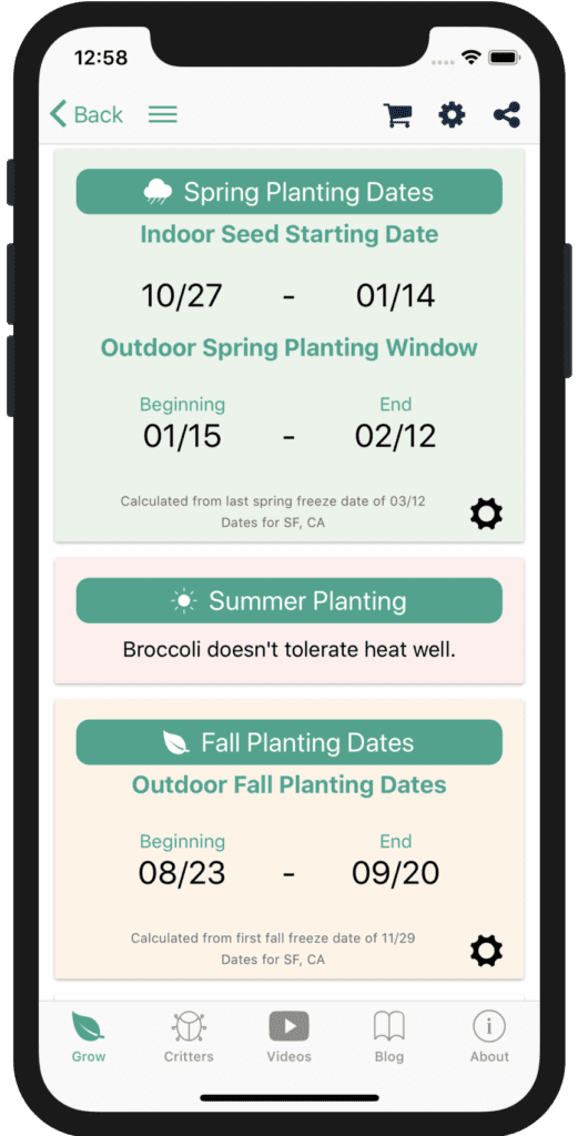 We Calculate Planting Dates Based On Your Nearest Weather Station!