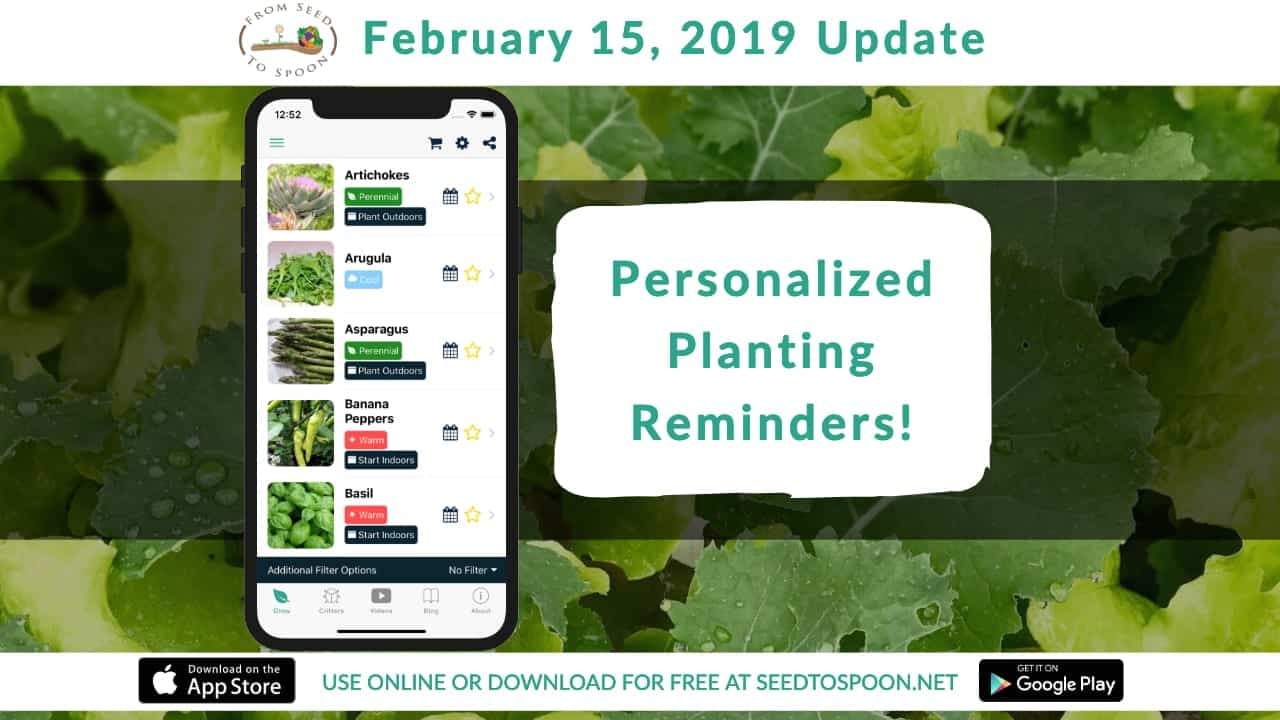 February 15 2019 Update Weekly Planting Notifications Are Now