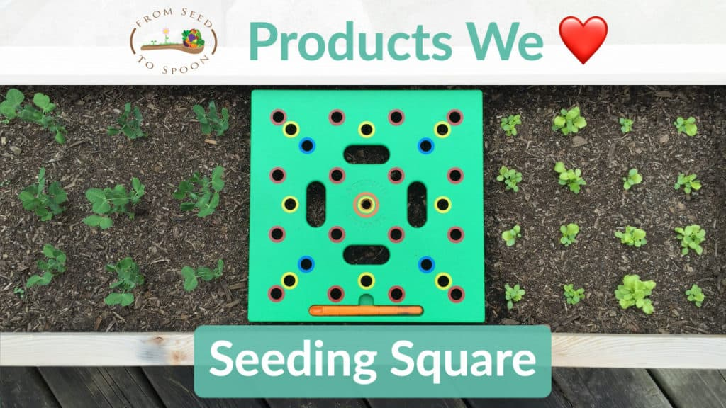 Seeding Square Square Foot Gardening Template From Seed To Spoon